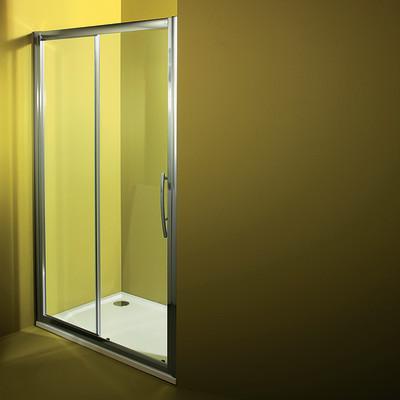 Porta doccia Namara 1 anta fissa + 1 scorrevole trasparente/cromo ...
