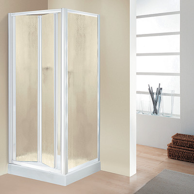 Porta doccia elba pieghevole stampato bianco 84 90 cm for Porta pieghevole a libro leroy merlin