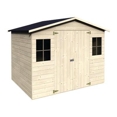 Casetta in legno bouganvillea 265 x 194 cm spessore 12 mm for Perline legno leroy merlin