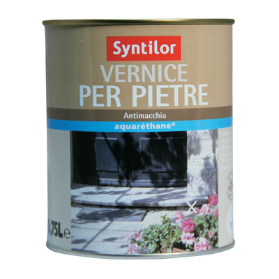 Vernice per pietre syntilor trasparente opaco 0 75 l - Pittura idrorepellente per esterni trasparente ...