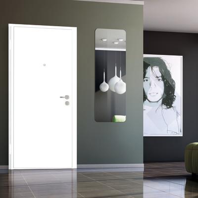 Porta blindata bicolor bianco noce l 80 x h 200 cm dx prezzi e offerte online - Porte interno leroy merlin ...