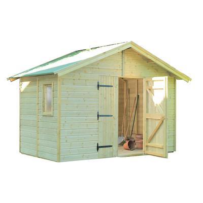 Casetta in legno giulia 290 x 300 cm spessore 19 mm for Casette legno leroy merlin