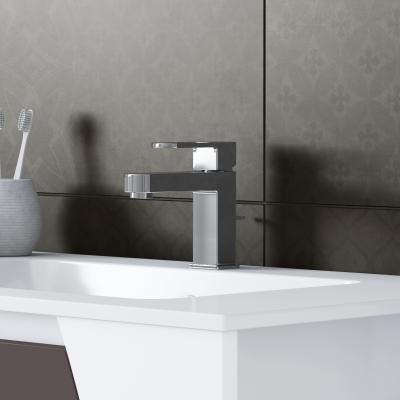 Mobile bagno soft bianco con frontale grigio antracite l - Mobile lavabo leroy merlin ...