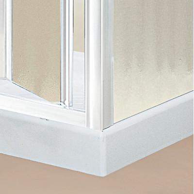 Porta doccia elba pieghevole piumato bianco 72 78 cm for Porta pieghevole a libro leroy merlin
