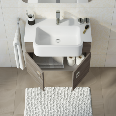 Mobile bagno florida larice l 70 cm prezzi e offerte online for Mobile bagno da 70 cm