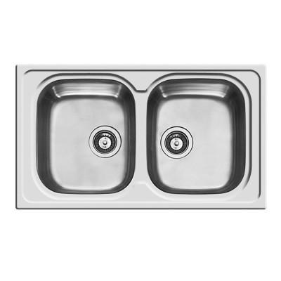 Lavello incasso amaltia l 86 x p 50 cm 2 vasche prezzi e offerte online - Lavelli cucina fragranite prezzi ...