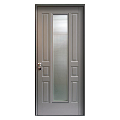 Porta blindata look grigio l 90 x h 210 cm dx prezzi e for Porta finestra leroy merlin
