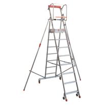 Scala castello alluminio Facal 8 gradini, per lavori fino a 3,95 m