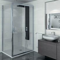 Porta doccia scorrevole Manhattan 96-100, H 200 cm cristallo 6 mm trasparente/cromo