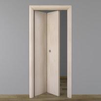 Porta da interno pieghevole Notting Hill pino sbiancato 70 x H 210 cm sx