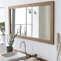 Specchio Tikamoon milano in teak 140 x 70 cm