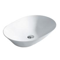 Lavabo da appoggio ovale New Toulose L 58 x P 42 x H  13 cm bianco