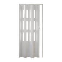 Porta a soffietto vetrata Luciana pino sbiancato L 88.5 x H 214 cm