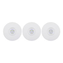 Kit 3 faretti ad incasso LED integrato Ostra bianco fisso rotondo Ø 8 cm 3 x 3,5 W = 230 Lumen luce calda