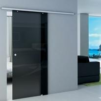 Porta da interno scorrevole Atena Fumè 86 x H 215 cm reversibile