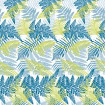 Tenda doccia Foliage verde L 180 x H 200 cm