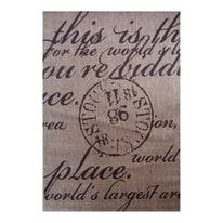 Tappeto Cottage poesia beige, nero 160 x 230 cm
