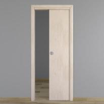 Porta da interno scorrevole Notting Hill pino sbiancato 60 x H 210 cm reversibile