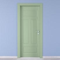 Porta da interno battente Coconut Groove verde 90 x H 210 cm sx