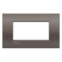 Placca 4 moduli BTicino Livinglight Air marrone