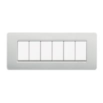Placca 6 moduli BTicino Matix cenere