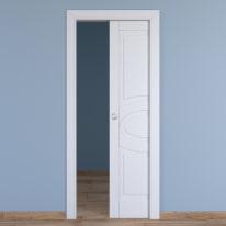 Porta da interno scorrevole Street bianco 80 x H 210 cm reversibile