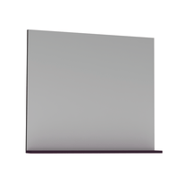Specchio Opale viola lucido 80 x 76 cm