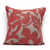 Cuscino Coachella rosso retro tinta unita 45 x 45 cm
