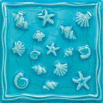 Formella Sardegna azzurro 20 x 20 cm