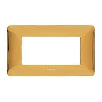 Placca 4 moduli BTicino Matix oro lucido