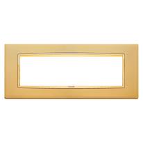 Placca 7 moduli Vimar Eikon Classic oro satinato