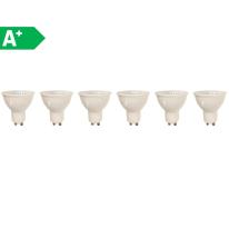 6 lampadine LED GU10 =50W luce naturale 100°