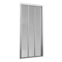 Porta doccia scorrevole Oceania 102-108, H 195 cm vetro temperato 4 mm silver