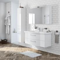 Mobile bagno Solitaire bianco L 122 cm