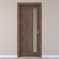 Porta da interno battente Gash tabacco 60 x H 210 cm sx