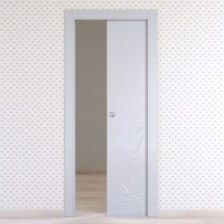 Porta da interno scorrevole Dwarf silk 60 x H 210 cm reversibile