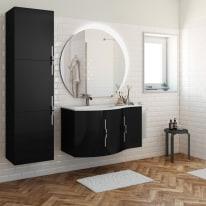 Mobile bagno Sting nero L 104 cm