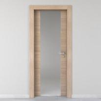 Porta da interno battente Ritz Vetro Rosa del deserto 90 x H 210 cm sx