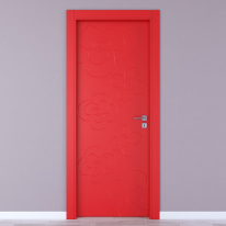Porta da interno battente Flower red rosso 70 x H 210 cm sx