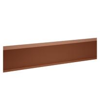 Scossalina in acciaio color terracotta 16 x 6 cm, L 200 cm