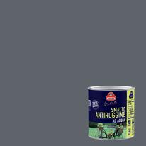 Smalto per ferro antiruggine grigio scuro satinato 0,5 L