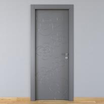 Porta da interno battente Flower ash cenere 60 x H 210 cm sx