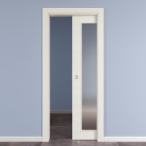 Porta da interno scorrevole Star Bianco matrix 80 x H 210 cm reversibile