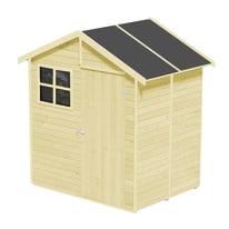 casetta in legno grezzo Portofino 2,14 m², spessore 14 mm