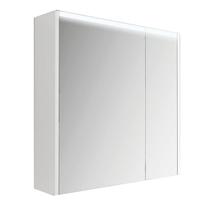 Armadietto a specchio L 70 x H 67 x P  15 cm bianco lucido