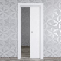 Porta da interno scorrevole Hunk cemento calce 70 x H 210 cm reversibile
