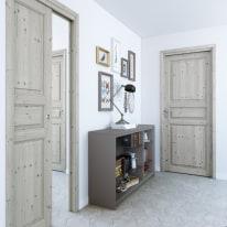 Porta da interno battente Beethoven grey charme 80 x H 210 cm reversibile