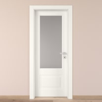 Porta da interno battente Shibuya Vetro Bianco 80 x H 210 cm sx