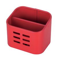 Porta posate e mestoli rosso L 10,5 x P 8,4 x H 8,5 cm