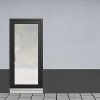 portoncino d'ingresso alluminio Condo4 nero L 90 x H 210 dx